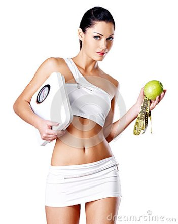 healthy-woman-stands-scales-green-apple-eating-concept-34330328